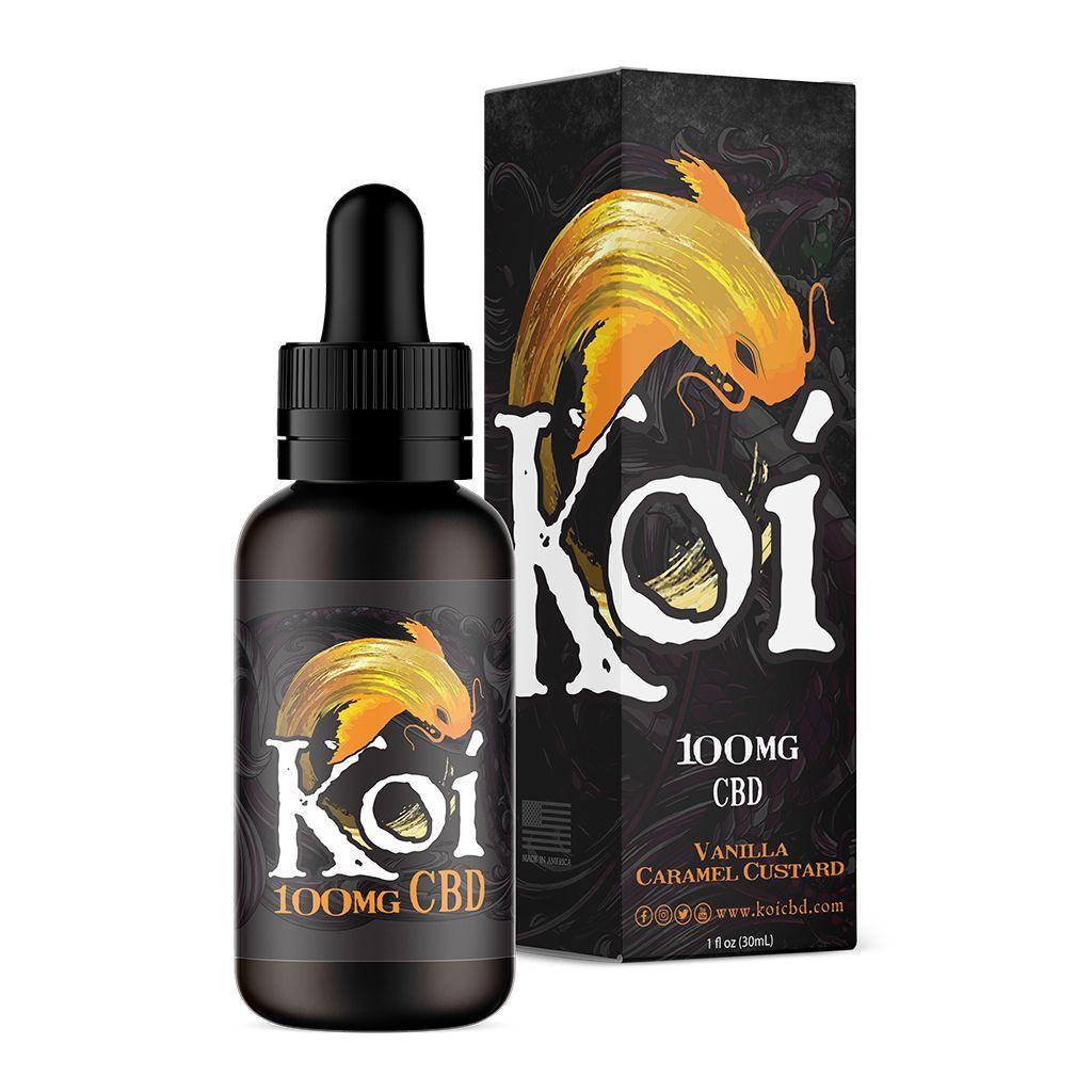 Gold Koi Vape Juice Vanilla Caramel Custard 100 mg 1 fl. oz. (30 mL)