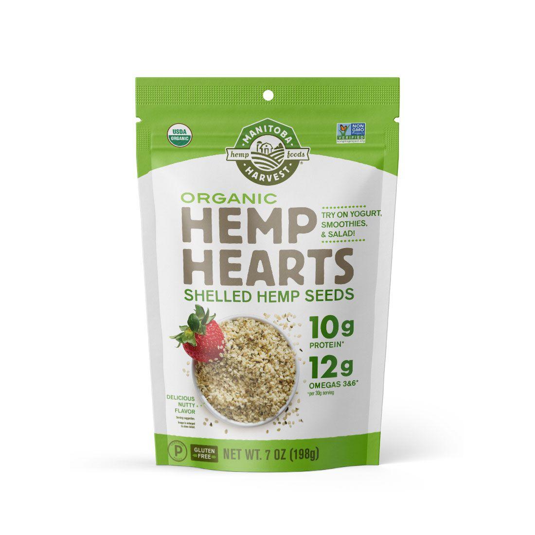 Hemp Hearts Organic (Raw Shelled) Hemp Seeds 7 oz. (198 g)