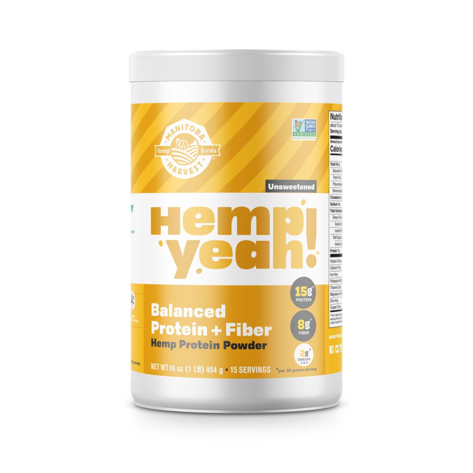 Hemp Yeah! Balanced Protein + Fiber Unsweetened 16 oz. (454 g)