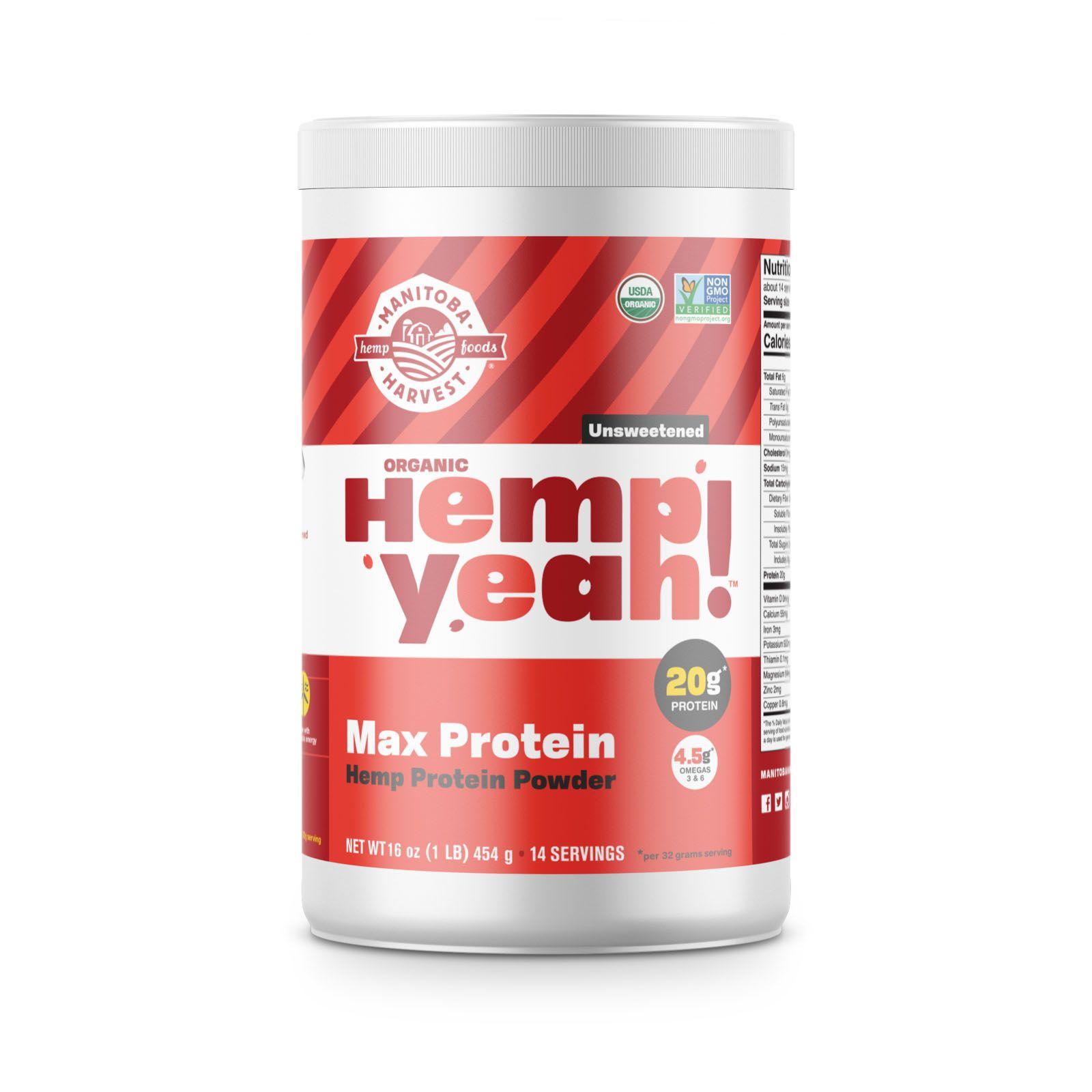 Hemp Yeah! Max Protein Powder Unsweetened 16 oz. (454 g)