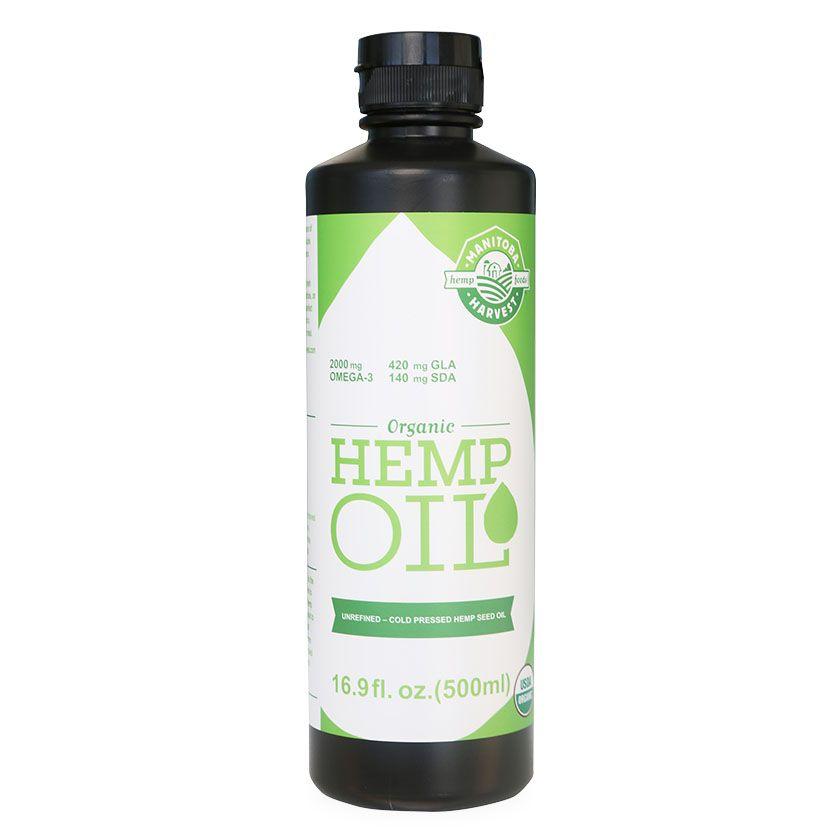 Organic Hemp Oil Natural Flavor 16.9 fl. oz. (500 mL)