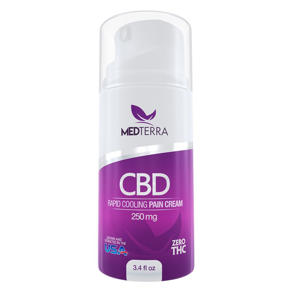 CBD Topical Rapid Cooling Cream Menthol 250 mg 3.4 fl. oz. (100 mL)