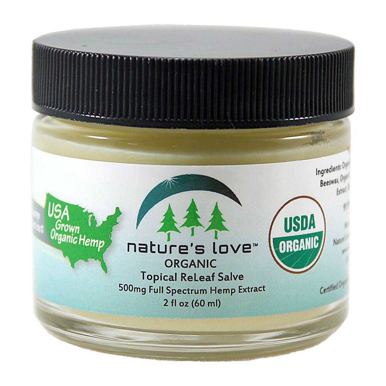 ReLeaf Organic Full-Spectrum Hemp Extract Salve Lemongrass 450 mg 2 fl. oz. (59 mL)