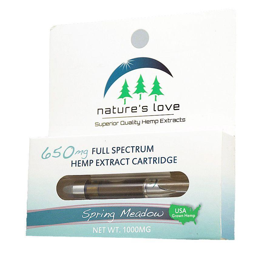 Vape Cartridge Full-Spectrum Hemp Distillate Extract Spring Meadow 500 mg 1 mL