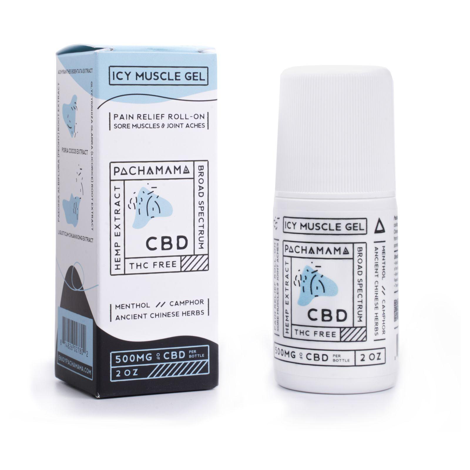 CBD Icy Muscle Gel Menthol 500 mg 2 fl. oz. (59 mL)