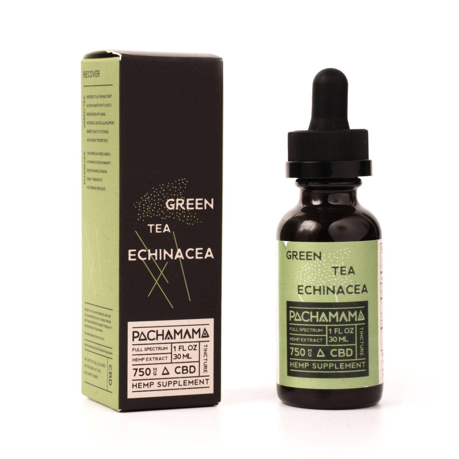 CBD Oil Green Tea Echinacea 750 mg 1 fl. oz. (30 mL)