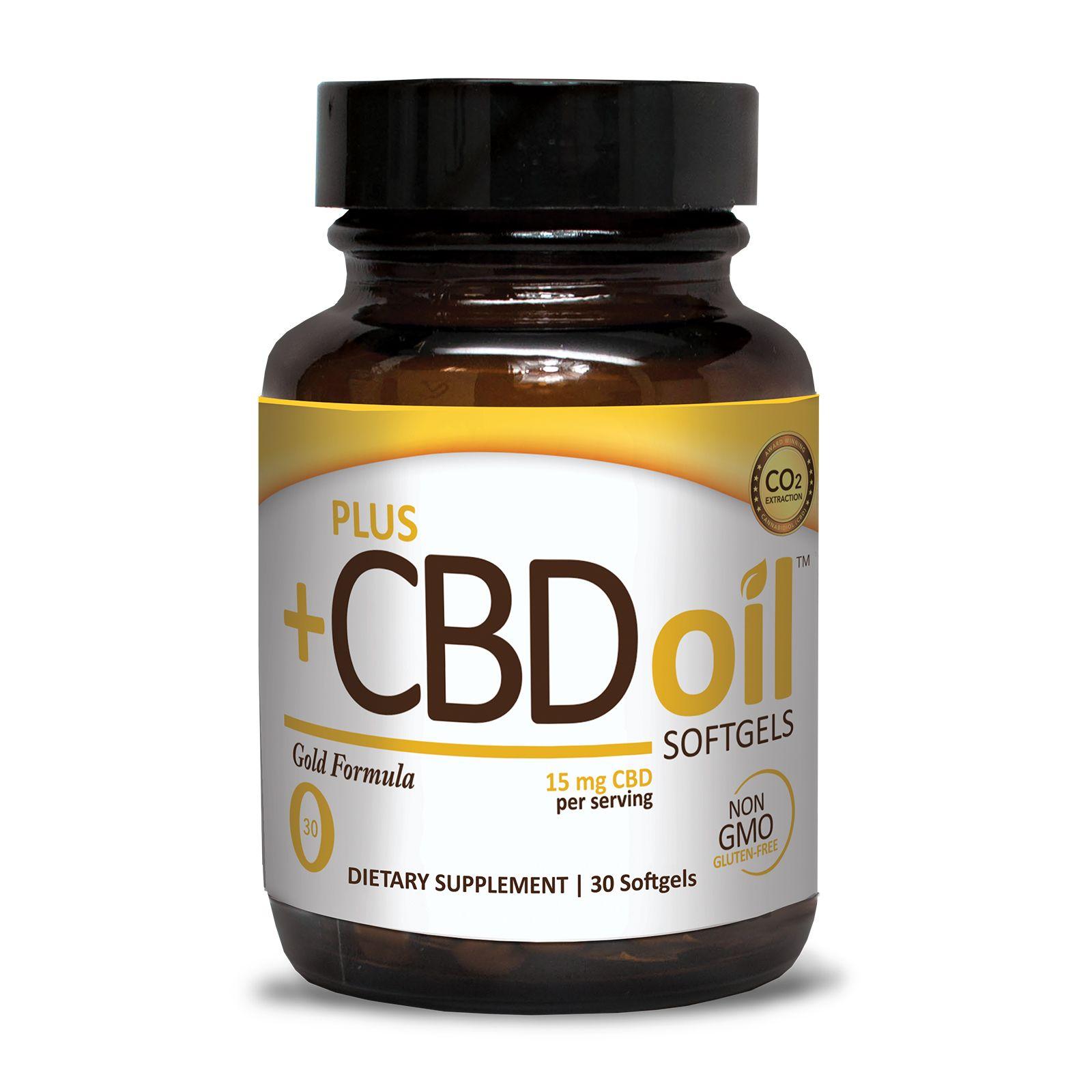 CBD Oil Gold Formula 450 mg 30 Vegetarian Softgels