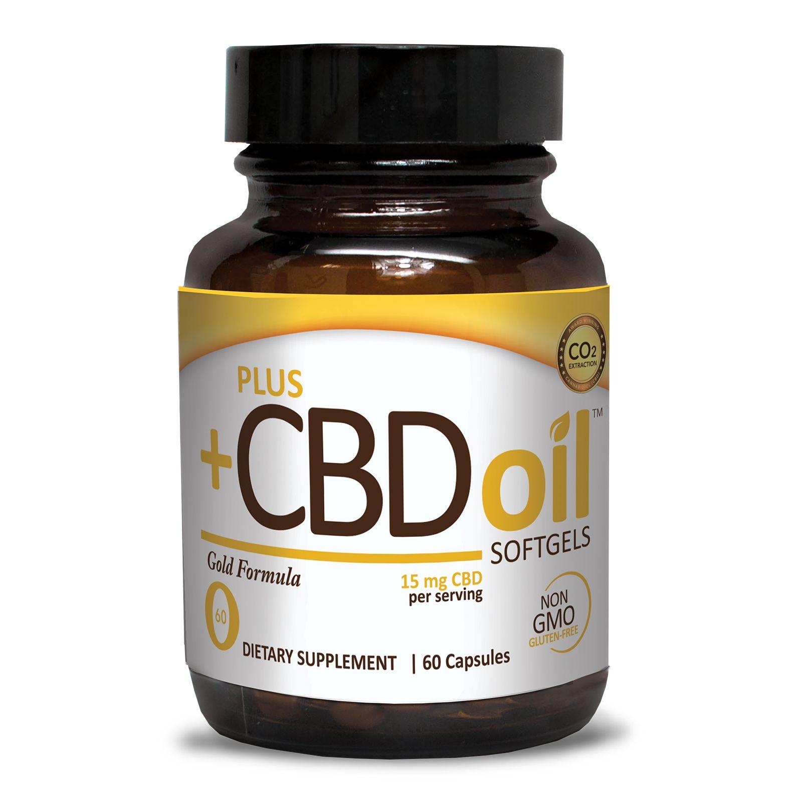 CBD Oil Gold Formula 750 mg 60 Vegetarian Softgels