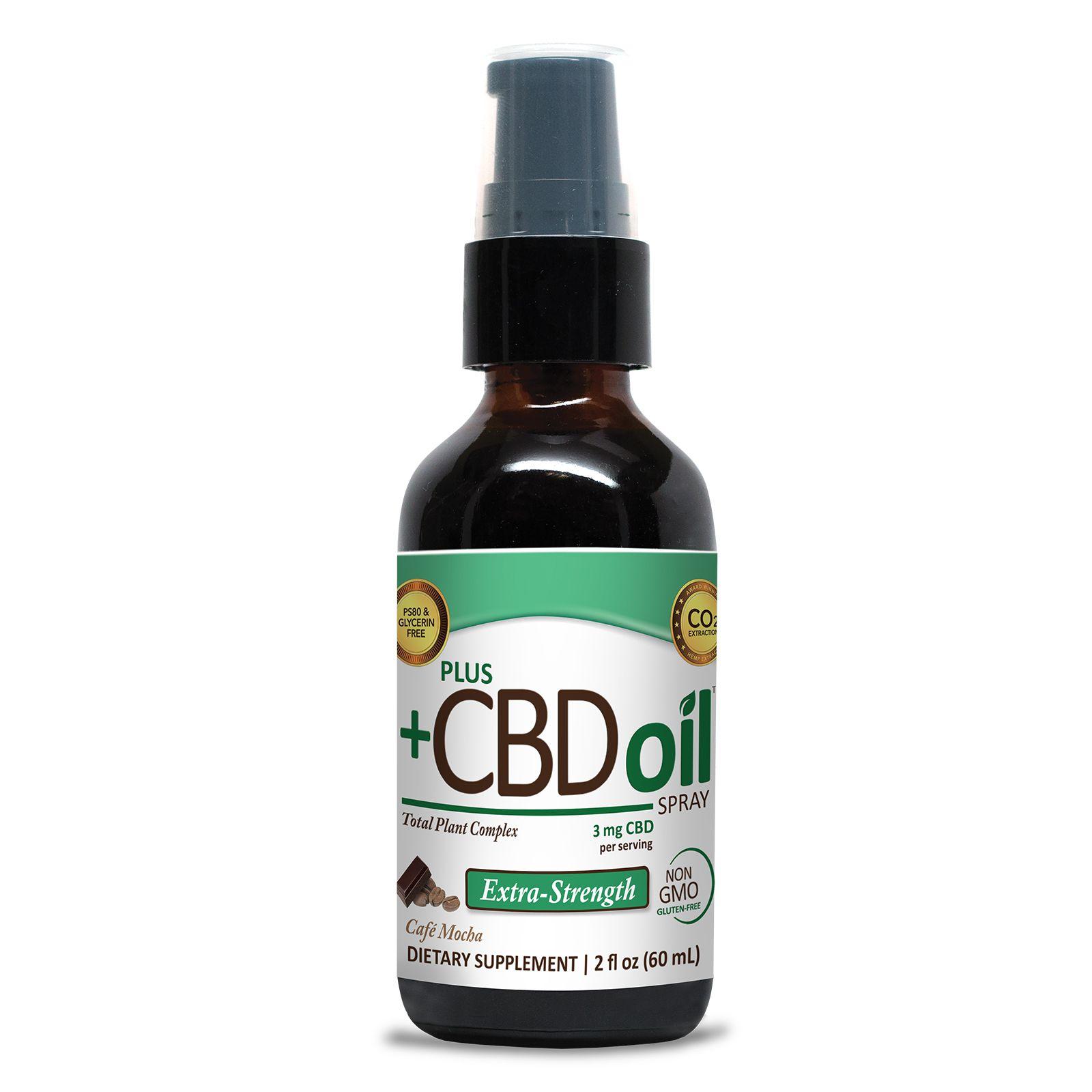 CBD Oil Oral Spray Cafe Mocha 500 mg 2 fl. oz. (59 mL)