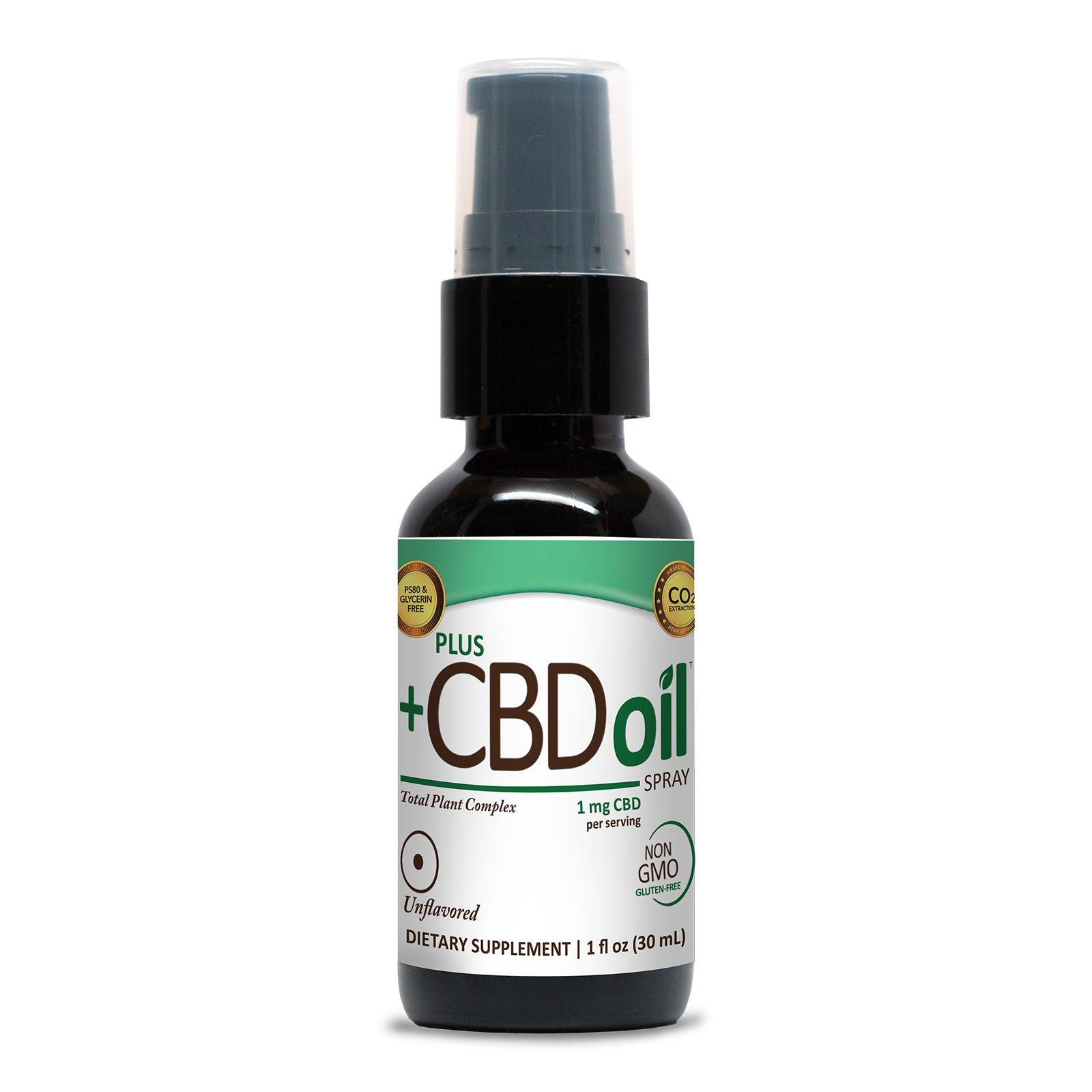 CBD Oil Oral Spray Natural Flavor 100 mg 1 fl. oz. (30 mL)