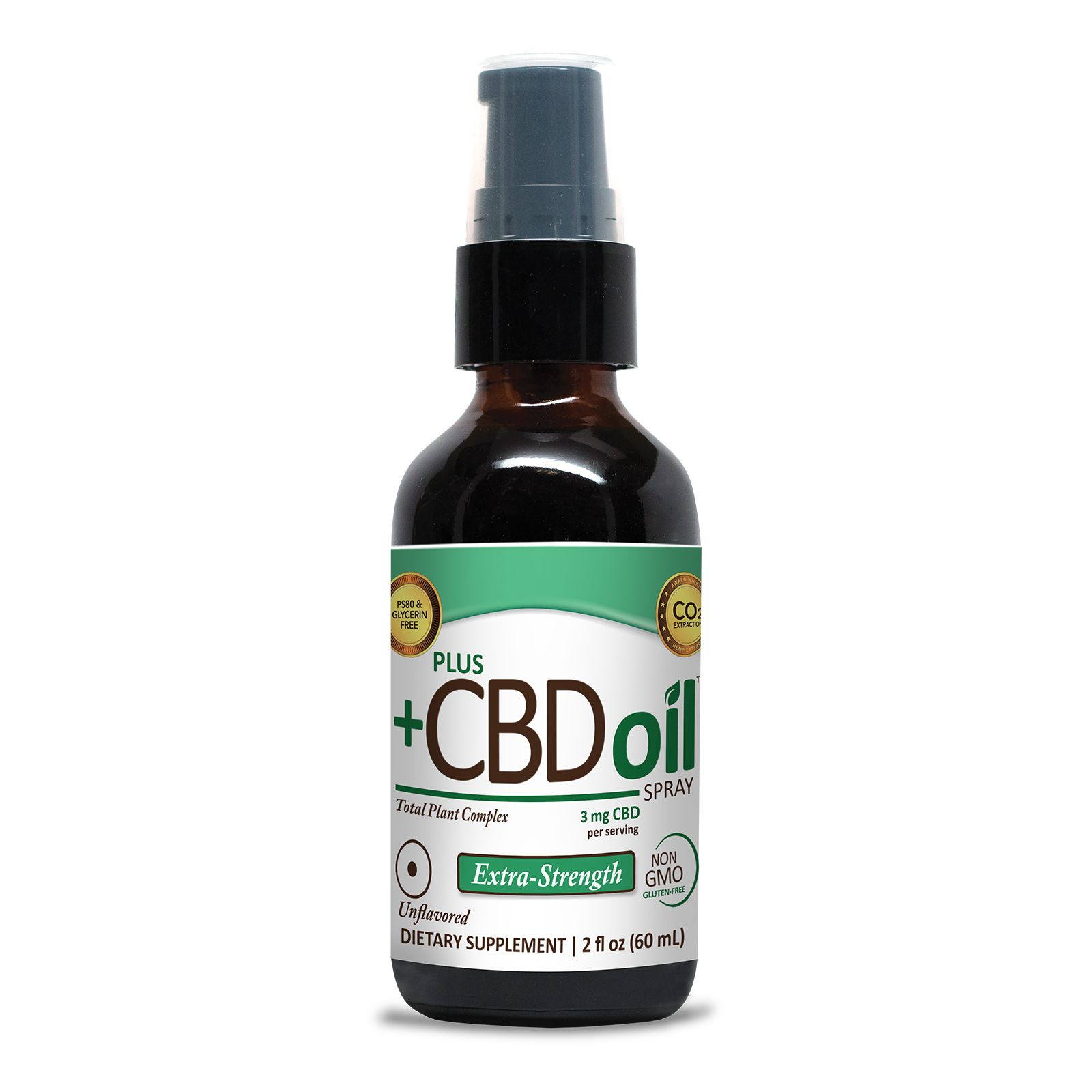 CBD Oil Oral Spray Natural Flavor 500 mg 2 fl. oz. (59 mL)