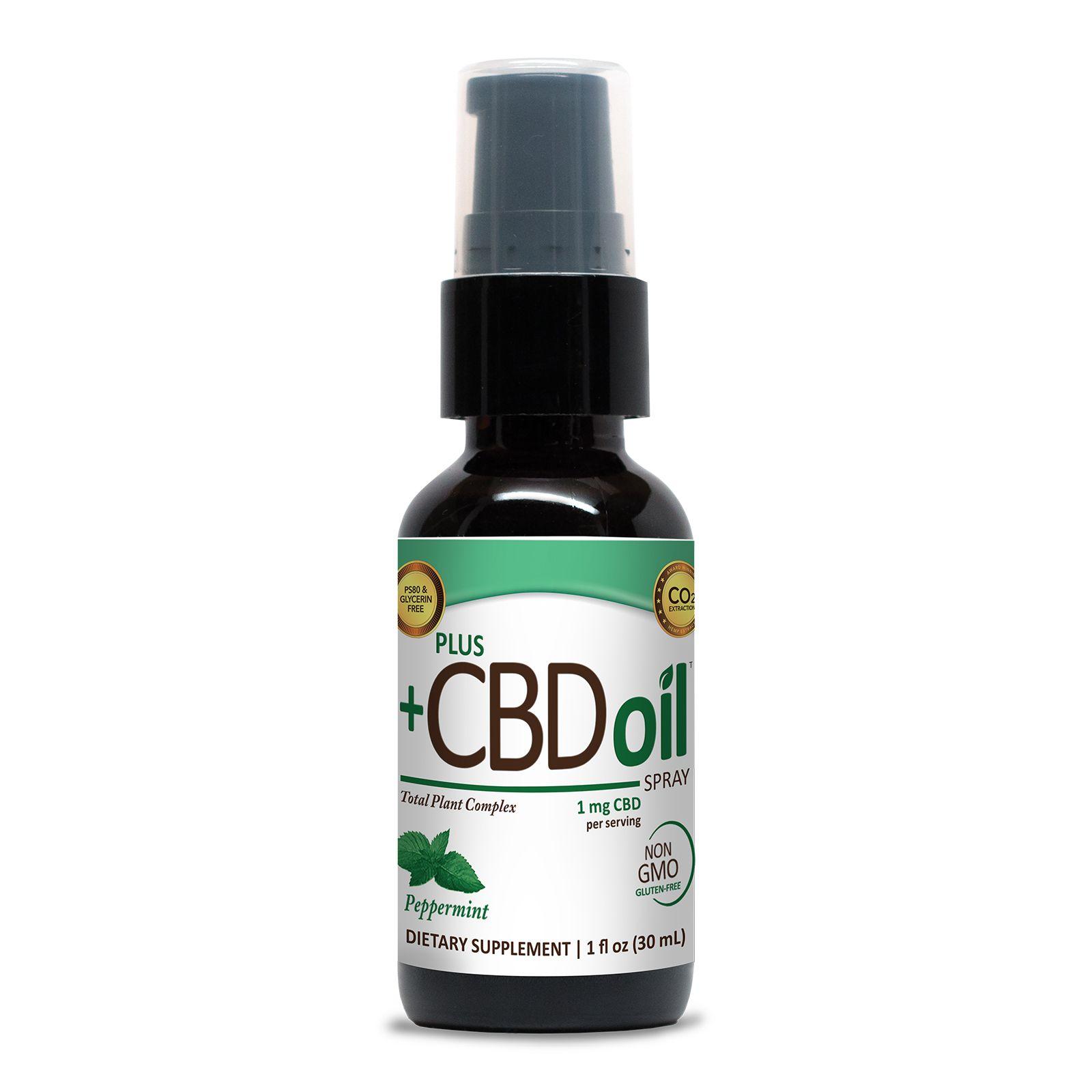 CBD Oil Oral Spray Peppermint 100 mg 1 fl. oz. (30 mL)