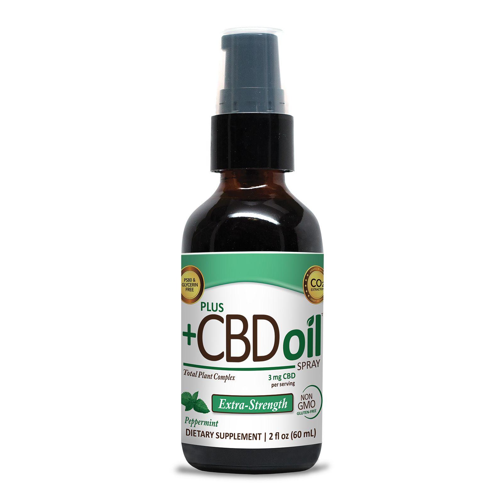 CBD Oil Oral Spray Peppermint 500 mg 2 fl. oz. (59 mL)