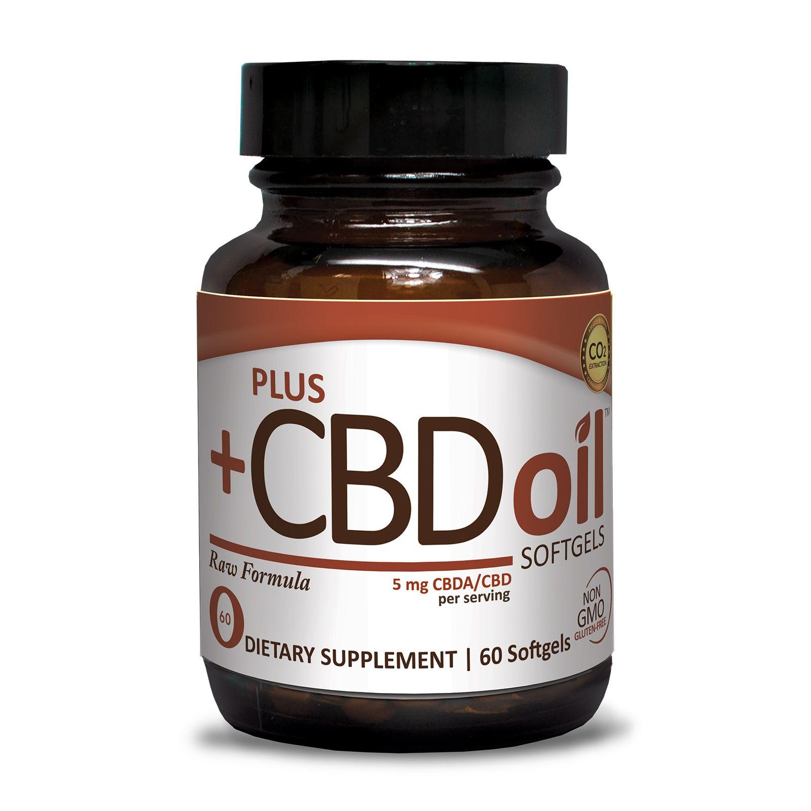 CBD Oil Raw 300 mg 60 Vegetarian Softgels