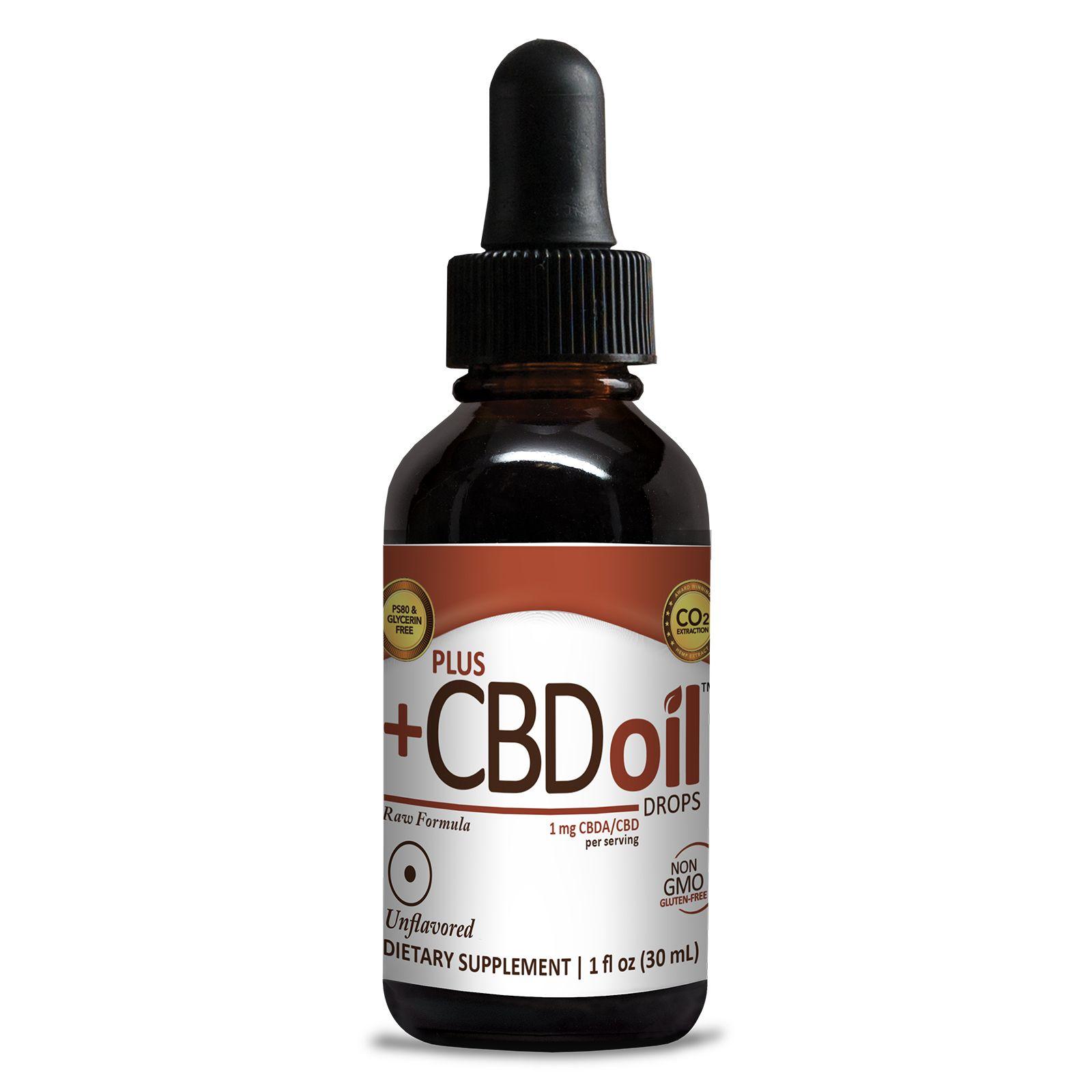 CBD Oil Raw Natural Flavor 100 mg 1 fl. oz. (30 mL)