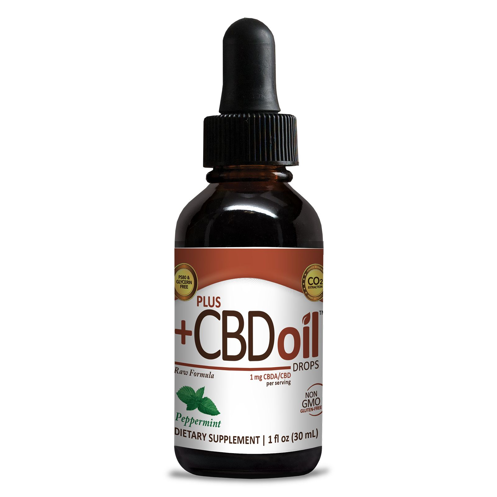 CBD Oil Raw Peppermint 100 mg 1 fl. oz. (30 mL)