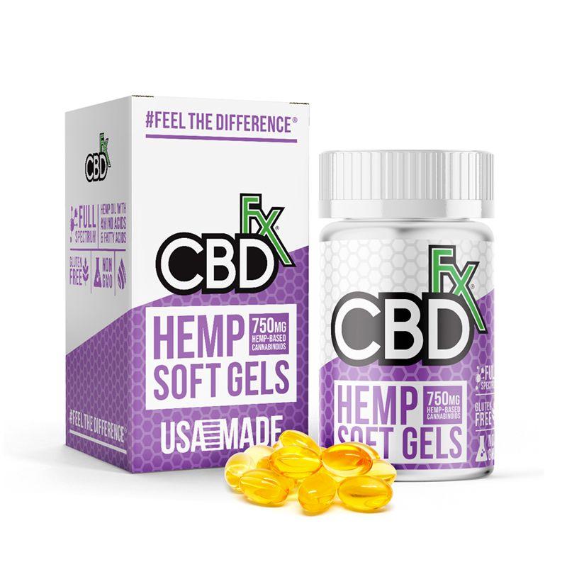 CBD Oil Hemp Extract 750 mg 30 Softgels