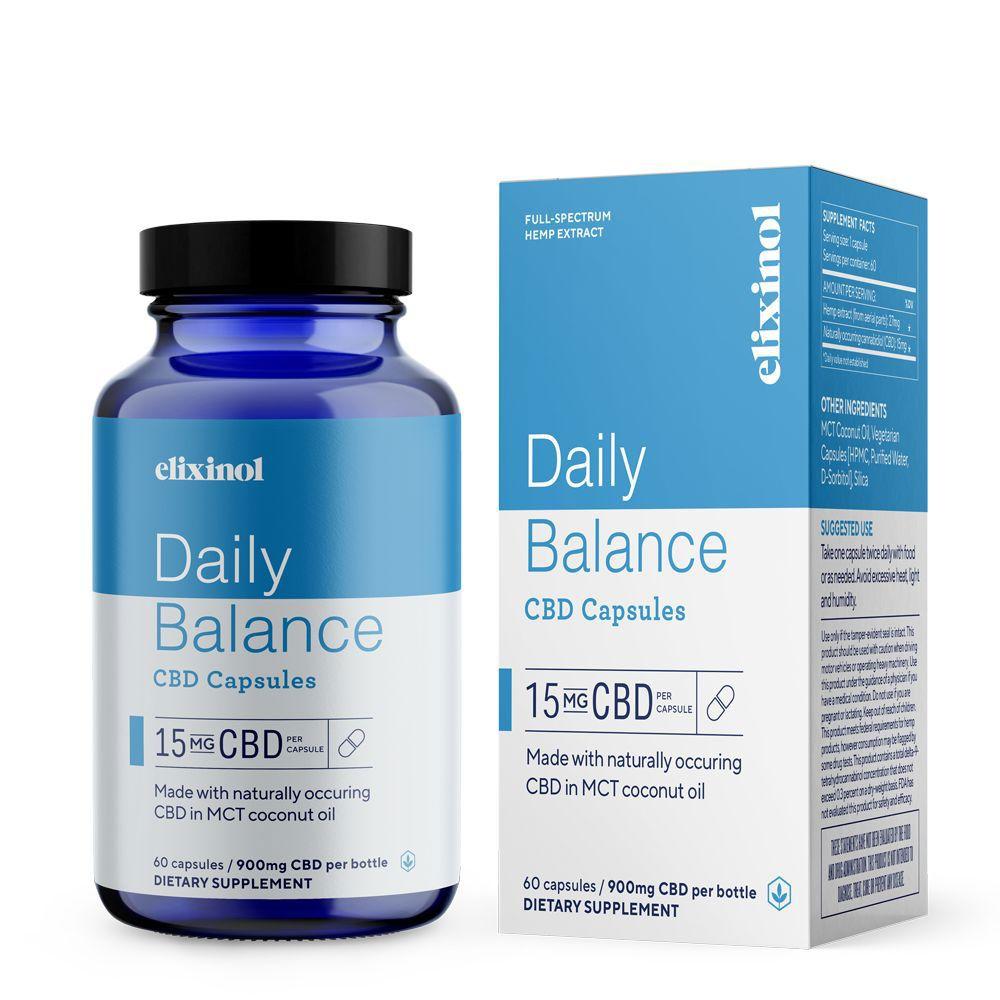 Elixinol Daily Balance CBD 900 mg 60 Capsules