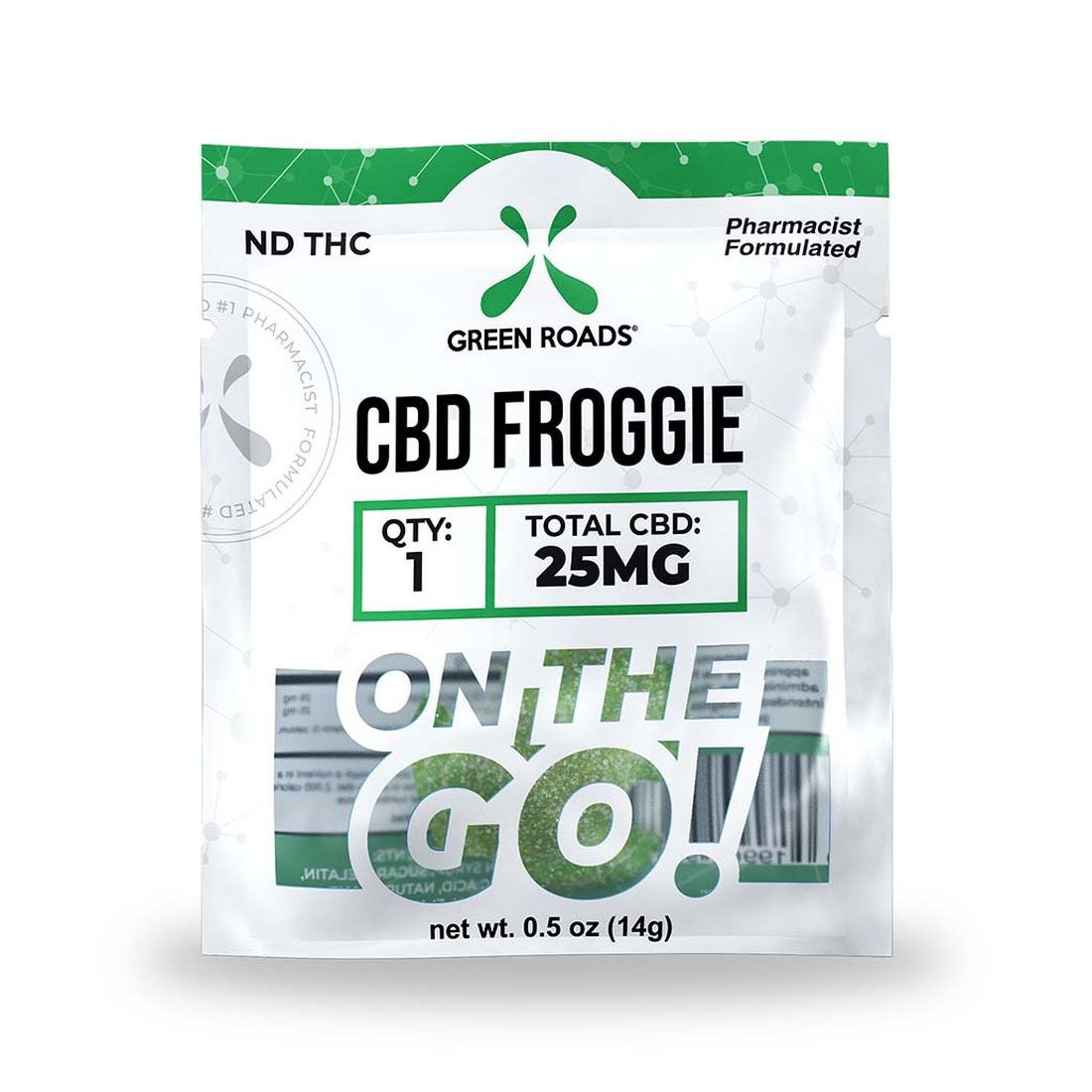 CBD Edibles On The Go Froggie 25 mg 1 Gummy 0.5 oz. (14 g)