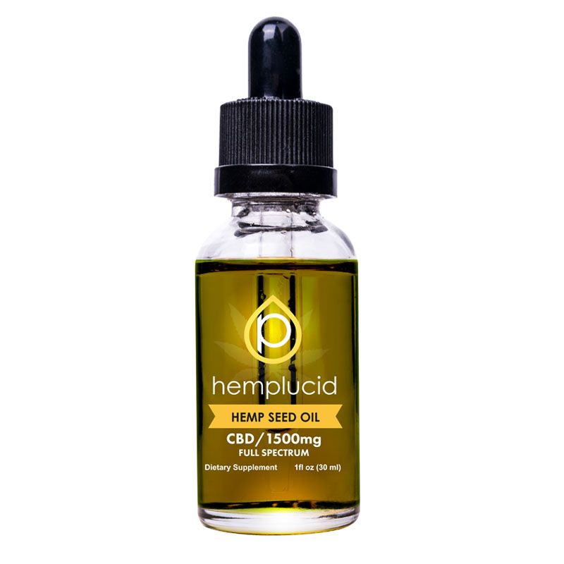 CBD in Hemp Seed Oil Natural Flavor 1,500 mg 1 fl. oz. (30 mL)
