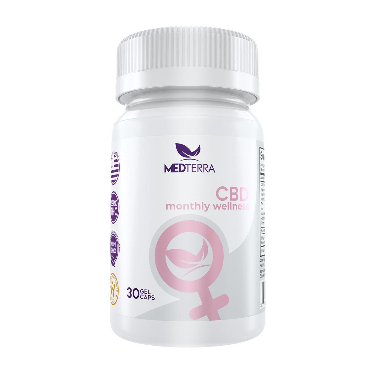 CBD Monthly Wellness 750 mg 60 Gel Capsules