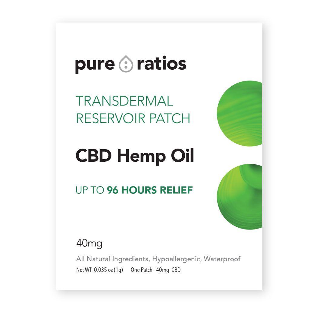 CBD Transdermal Patch 40 mg 1 Patch